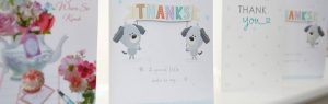 Thank you cards in vets reception